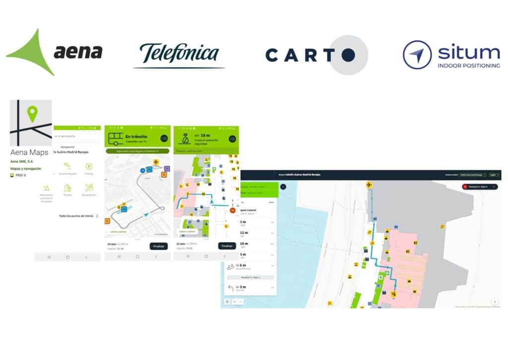 Plataforma de localización en interiores de Situm para AENA Maps