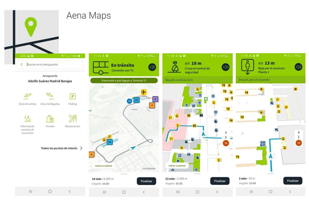 AENA Maps with Situm indoor location for airports